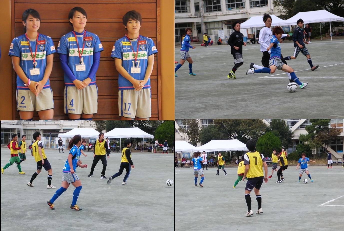 等々力小でミニサッカー、「スフィーダ世田谷FC」選手と共に