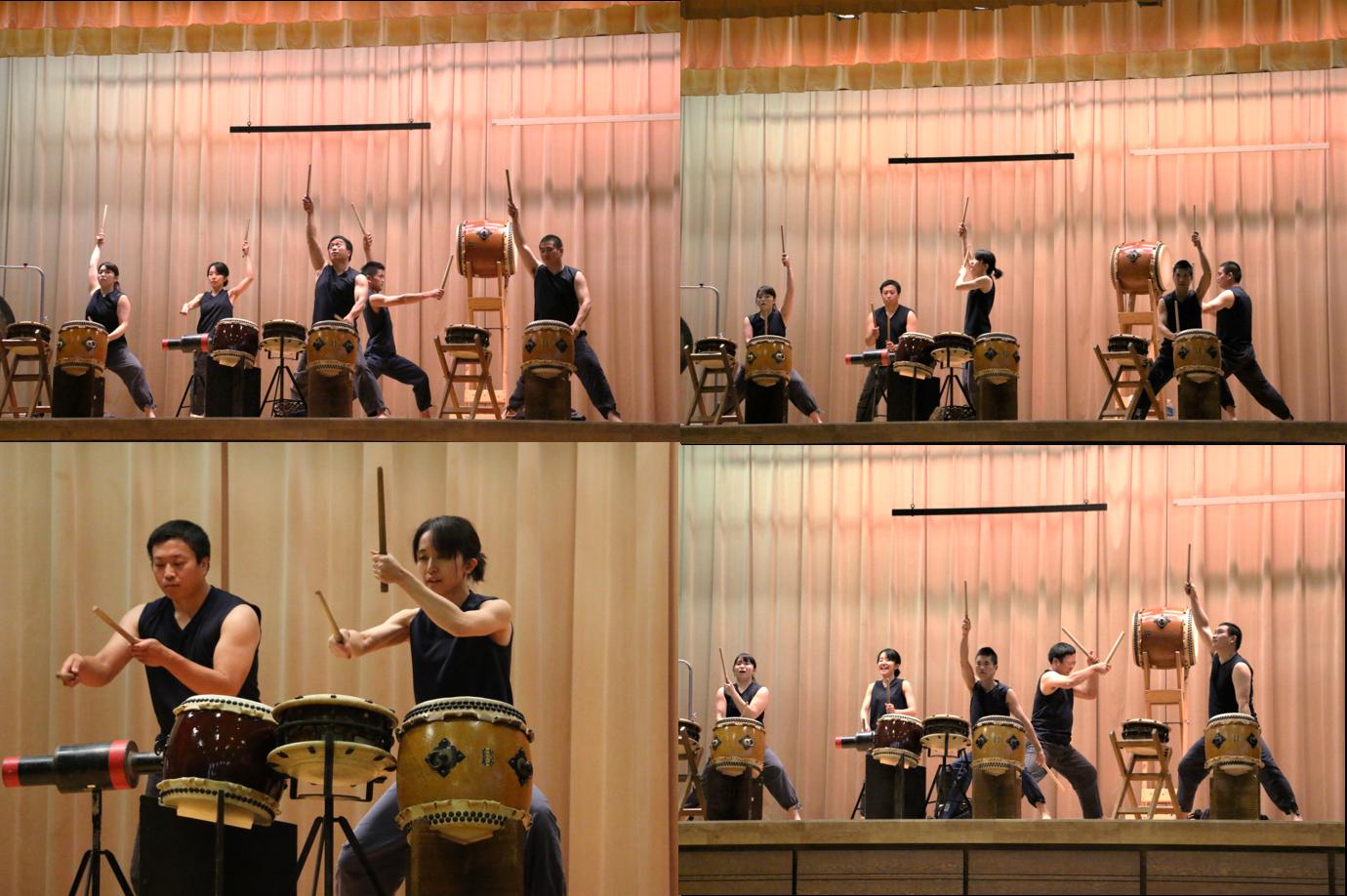 和太鼓演奏、今年はOB・OGの少数精鋭